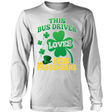 School Bus Driver - St. Patrick's Day His Passengers - District Long Sleeve / White / S - 5