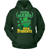 Teacher - St. Patrick's Day Students - Hoodie / Dark Green / S - 10