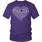 English - Heart - District Unisex Shirt / Purple / S - 4
