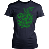 Teacher - Apple Clovers - Broken - District Made Womens Shirt / Navy / S - 13