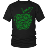 Teacher - Apple Clovers - District Unisex Shirt / Black / S - 4