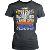 Teacher - Teacher Olympics - District Made Womens Shirt / Charcoal / S - 12