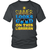 Librarian - Summer Looks Good - District Unisex Shirt / Charcoal / S - 6