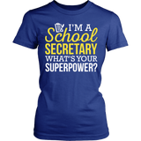 Secretary - Superpower - District Made Womens Shirt / Royal / S - 11
