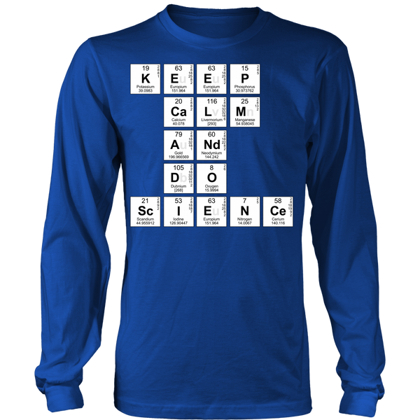 Science - Keep Calm - District Long Sleeve / Royal Blue / S - 1