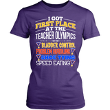Teacher - Teacher Olympics - District Made Womens Shirt / Purple / S - 11
