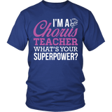 Chorus - Superpower - District Unisex Shirt / Royal Blue / S - 2
