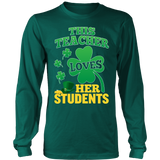 Teacher - St. Patrick's Day Her Students - District Long Sleeve / Dark Green / S - 7