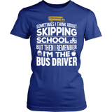 School Bus Driver - Skipping - District Made Womens Shirt / Royal / S - 11