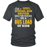 School Bus Driver - Turn Their Back - District Unisex Shirt / Charcoal / S - 3