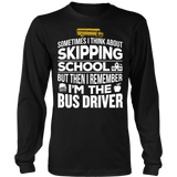 School Bus Driver - Skipping - District Long Sleeve / Black / S - 7