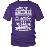 Secretary - Big Cup - District Unisex Shirt / Purple / S - 3