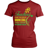 Teacher - Seeds of Knowledge - District Made Womens Shirt / Red / S - 11