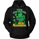 School Bus Driver - St. Patrick's Day Her Passengers - Hoodie / Black / S - 9
