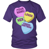 Kindergarten - Candy Hearts - District Unisex Shirt / Purple / S - 4