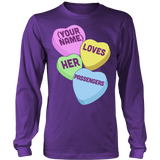 School Bus Driver - Candy Hearts - District Long Sleeve / Purple / S - 8