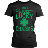 Teacher - Lucky Charms - District Made Womens Shirt / Black / S - 11