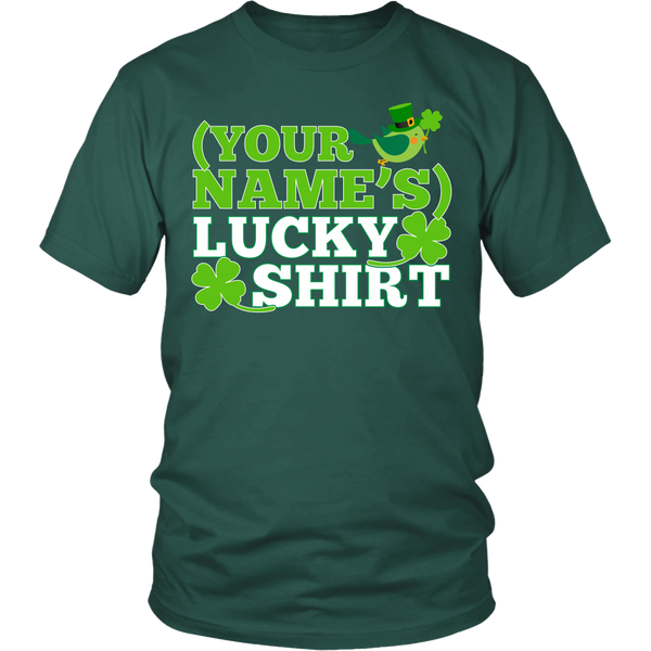 Teacher - Lucky Shirt - District Unisex Shirt / Dark Green / S - 3