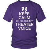 Theater - Keep Calm Voice - District Unisex Shirt / Purple / S - 2