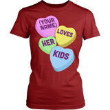 Lunch Lady - Candy Hearts - District Made Womens Shirt / Red / S - 14