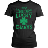Music - Lucky Charms - District Made Womens Shirt / Black / S - 10