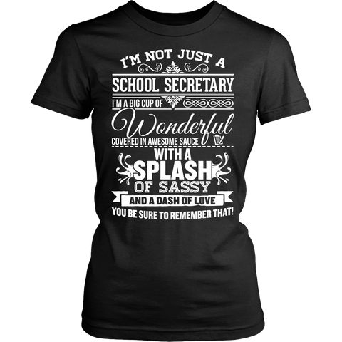 Secretary - Big Cup - District Made Womens Shirt / Black / S - 1