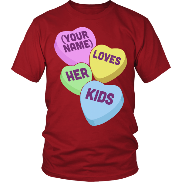 Lunch Lady - Candy Hearts - District Unisex Shirt / Red / S - 3