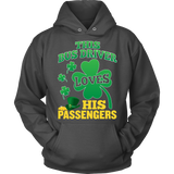 School Bus Driver - St. Patrick's Day His Passengers - Hoodie / Charcoal / S - 10