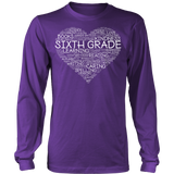 Sixth Grade - Heart - District Long Sleeve / Purple / S - 7