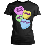 English - Candy Hearts - District Made Womens Shirt / Black / S - 9