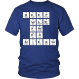 Science - Keep Calm - District Unisex Shirt / Royal Blue / S - 2