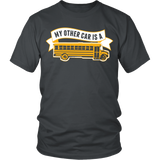 School Bus Driver - My Other Car - District Unisex Shirt / Charcoal / S - 4
