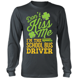 School Bus Driver - Don't Kiss Me - District Long Sleeve / Charcoal / S - 5