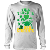 Teacher - St. Patrick's Day Her Students - District Long Sleeve / White / S - 6