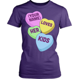 Lunch Lady - Candy Hearts - District Made Womens Shirt / Purple / S - 10
