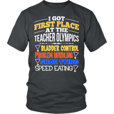 Teacher - Teacher Olympics - District Unisex Shirt / Charcoal / S - 5