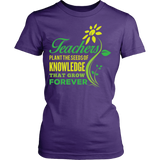 Teacher - Seeds of Knowledge - District Made Womens Shirt / Purple / S - 8