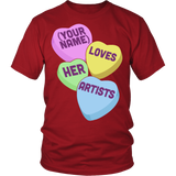 Art - Candy Hearts - District Unisex Shirt / Red / S - 3