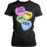 Lunch Lady - Candy Hearts - District Made Womens Shirt / Black / S - 9