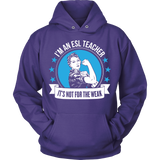 ESL - Not For The Weak - Hoodie / Purple / S - 8