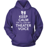 Theater - Keep Calm Voice - Hoodie / Purple / S - 9