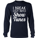 Theater - Show Tunes - District Long Sleeve / Navy / S - 7