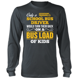 School Bus Driver - Turn Their Back - District Long Sleeve / Charcoal / S - 6