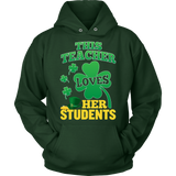 Teacher - St. Patrick's Day Her Students - Hoodie / Dark Green / S - 10