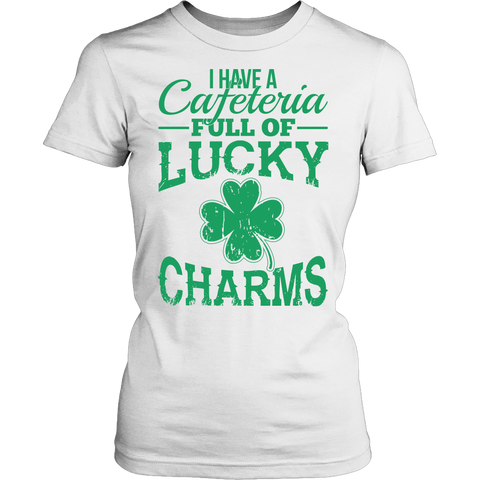 Lunch Lady - Lucky Charms - District Made Womens Shirt / White / S - 1