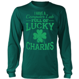 Computer - Lucky Charms - District Long Sleeve / Dark Green / S - 6