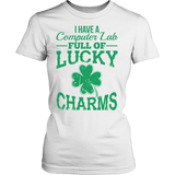Computer - Lucky Charms - District Made Womens Shirt / White / S - 1