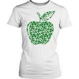 Teacher - Apple Clovers - Broken - District Made Womens Shirt / White / S - 11
