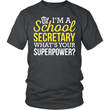 Secretary - Superpower - District Unisex Shirt / Charcoal / S - 3