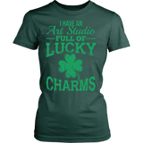 Art - Lucky Charms - District Made Womens Shirt / Forest Green / S - 11